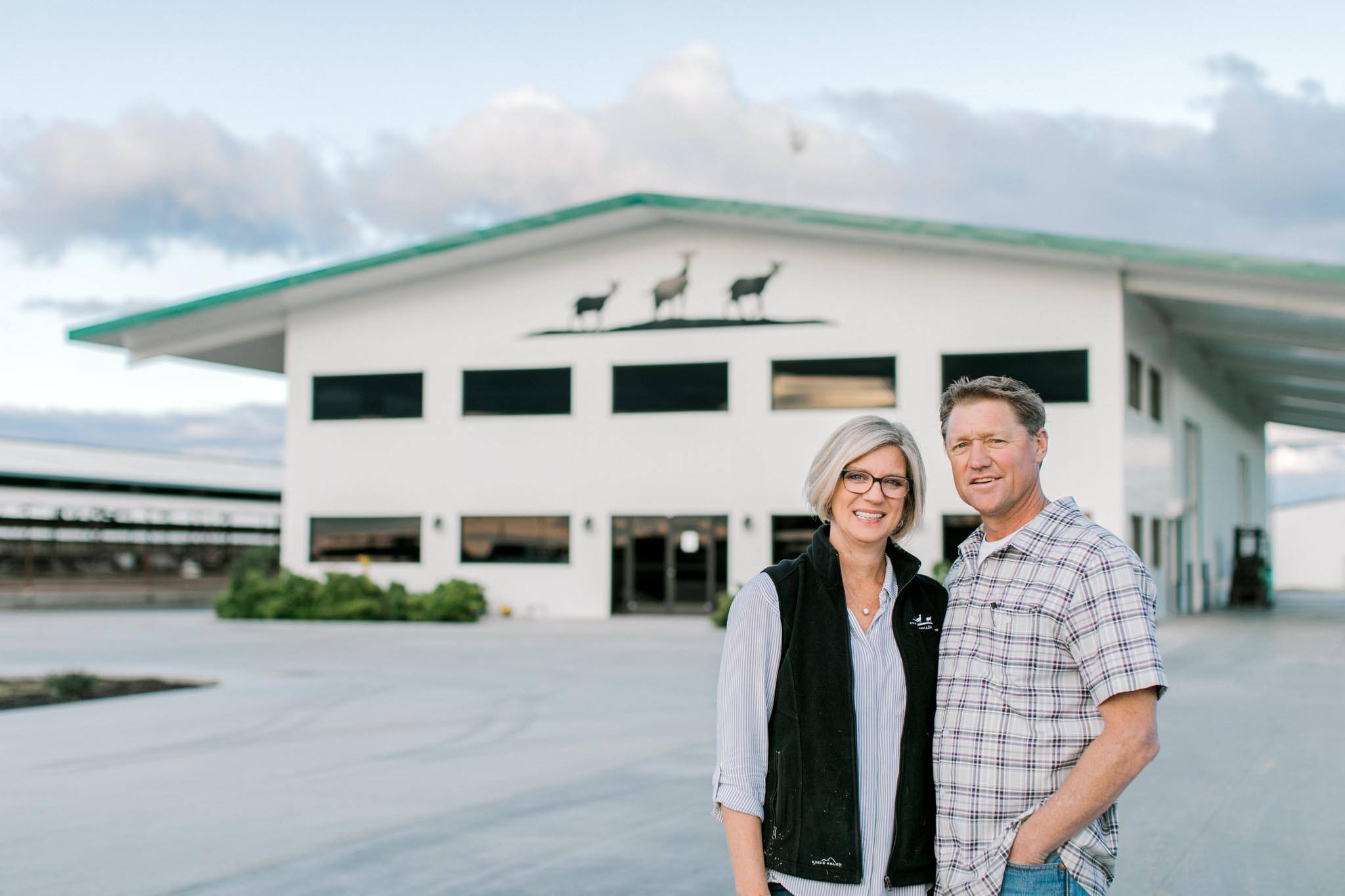 Anneke and Johnnie owners of Summerhill Dairy