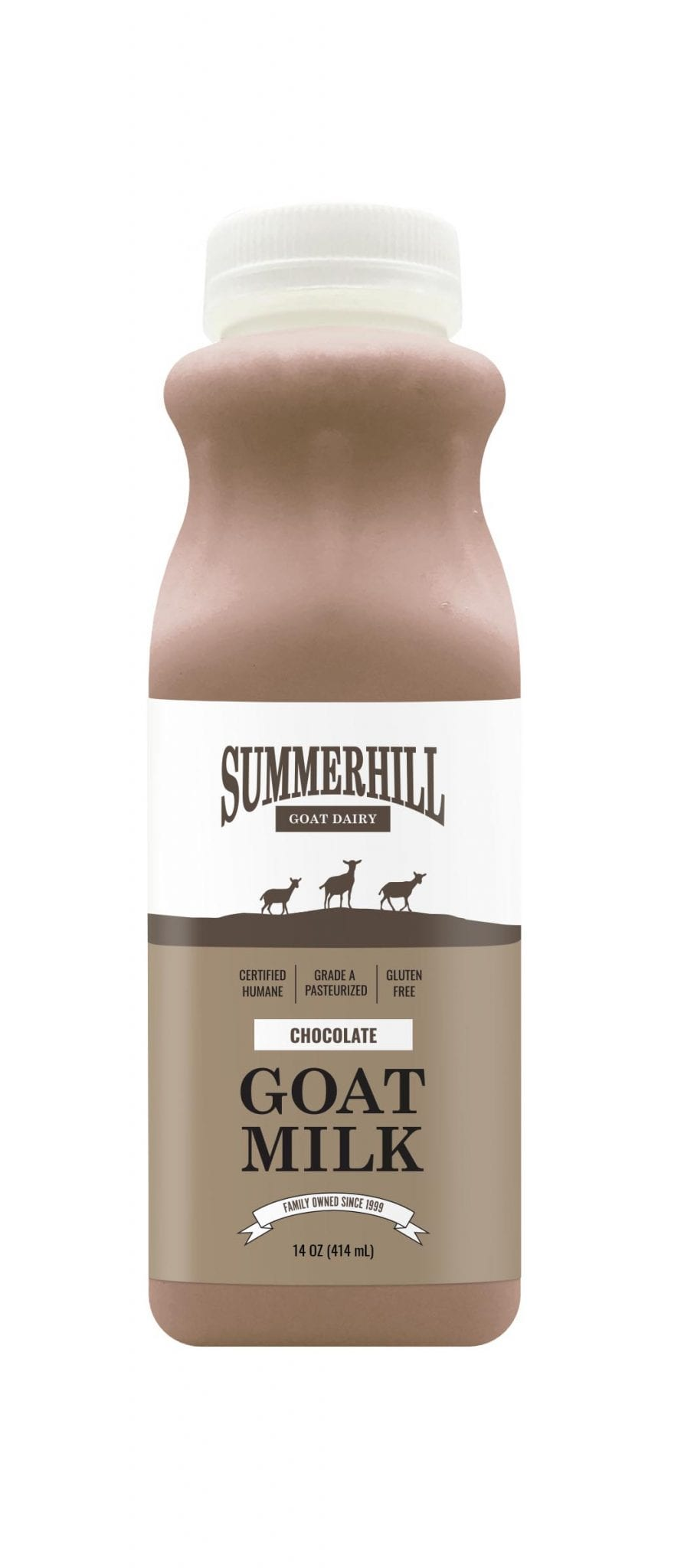 Chocolate goat milk 14oz bottle