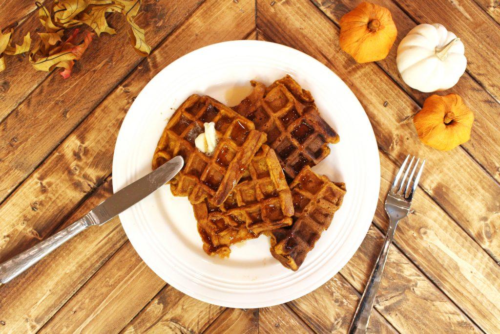 Goat Milk Pumpkin Spice Waffles