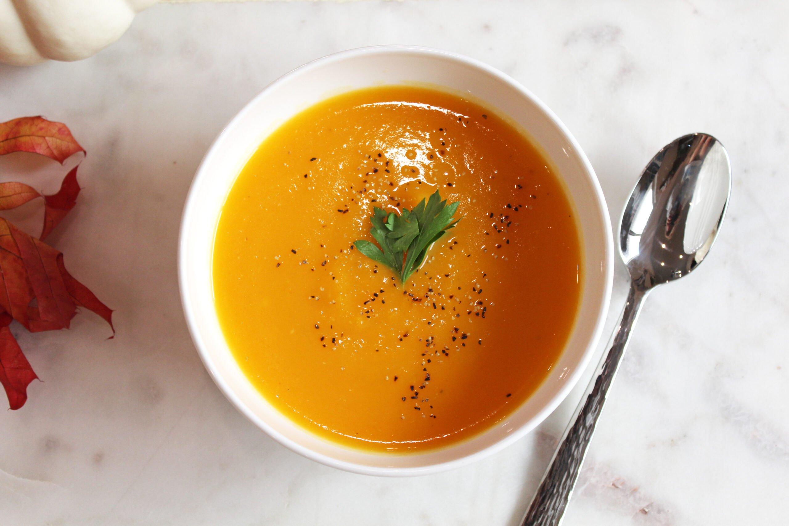 Pumpkin Soup with Goat Milk