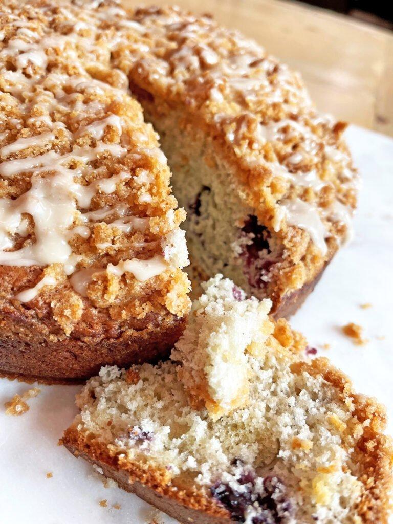 Blueberry Streusel Goat Milk Coffee Cake